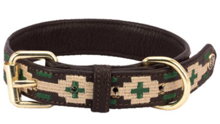 HALO LEX Embroidered Leather Dog Collar