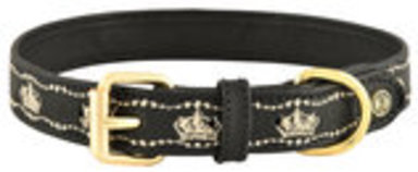 HALO Royal Embroidered Leather Dog Collar