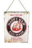 Happy Hen Metal Wall Sign