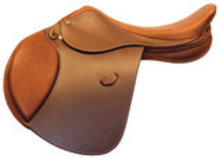 HDR Pro Show Jumping Saddle, Oak Bark
