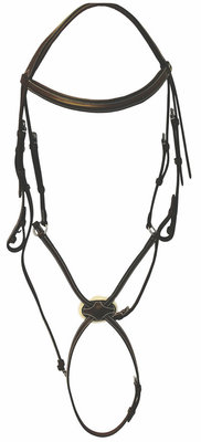 HDR Pro Mono Crown Raised Figure 8 Bridle w/ Rubber Reins