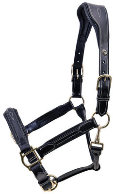 HDR Stress Free Fancy Stitch Leather Halter