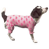 Pink Heart Fleece Dog Pajamas