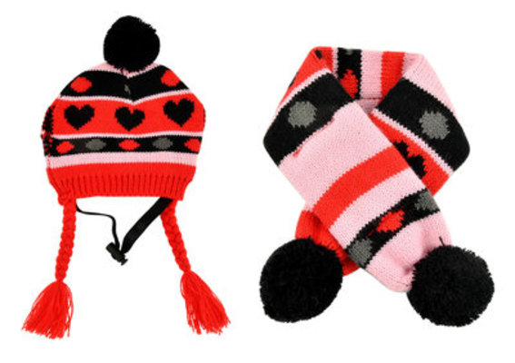 Heart Hat & Scarf Combo