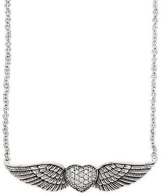 """May Your Heart Soar"" Heart w/ Wings Necklace"