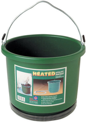 Plastic Heated Bucket, 2 Gallon