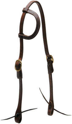 Heavy Oiled Headstall, One-Ear
