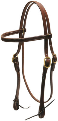 Heavy Oiled Headstall, Browband