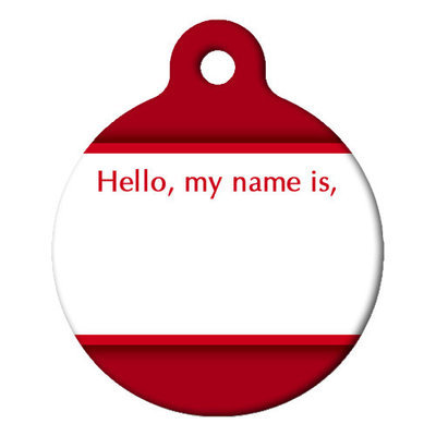 "Large ""Hello, My Name Is"" Dog Tag"