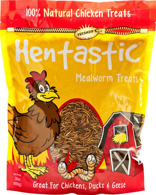 Hentastic Dried Mealworms, 30 oz