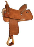High Horse Lobo Barrel Saddle, Wide Tree, Heavy Oil