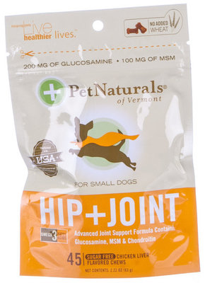 HIP + JOINT Bone Shaped Chews, Small Dog (45 count)