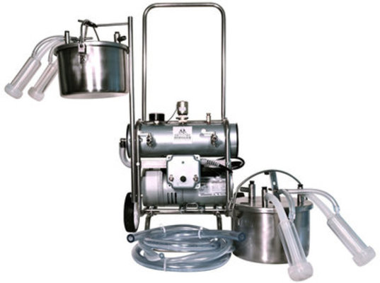 Dual Pail Deluxe Milking Machine