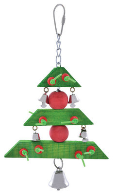 3-Tiered Holiday Tree Bird Toys