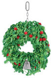 Holiday Bird Toy, Cotton Wreath