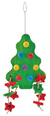 Large Holiday Tree Bird Toy