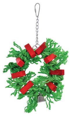 Holiday Sisal Wreath Bird Toy