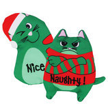Holiday Botanical Naughty & Nice Refillable Cat Toys