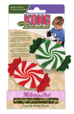 KONG Botanical Peppermint Refillable Catnip Toys, 2-pk
