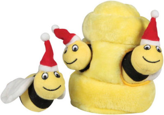 Holiday Hide-A-Bee Plush Puzzle Toy