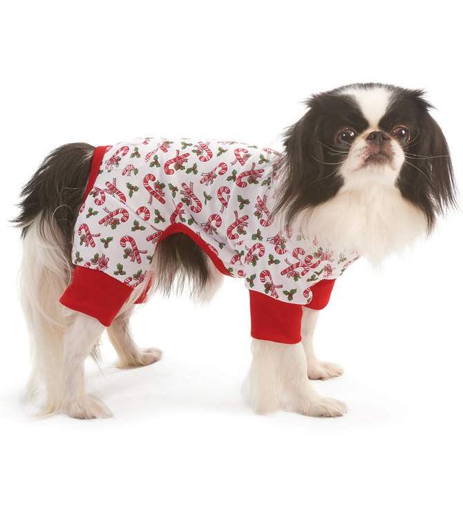 Christmas Pajamas For Dog.Dog Christmas Pajamas Candy Cane Jeffers Pet