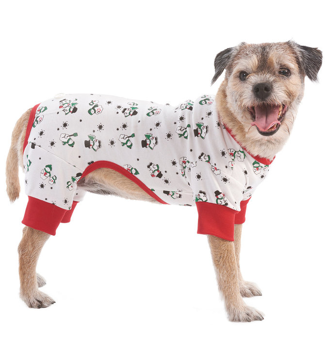 Christmas Pajamas For Dog.Dog Christmas Pajamas Snowmen Jeffers Pet