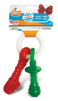 Holiday Puppy Teething Pacifier