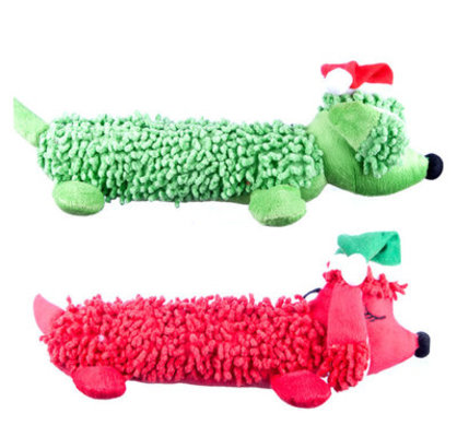 Green & Red Scruffie Nubbie Hot Dogs (1 each)
