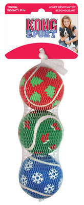 "KONG Medium (2.5"") Holiday Sport Balls, 3-pack"