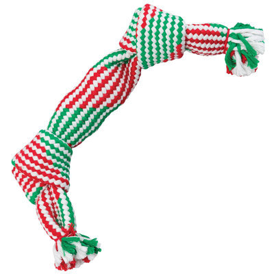 Holiday Super Squeak 2-Squeaker Rope