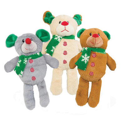Plush Animal Dog Toys with Green Scarf, Each