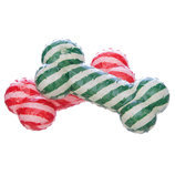 "6"" Striped Rubber Bone, Assorted Colors"