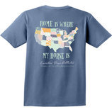 """Home is Where My Horse Is"" Pocket Tee, Blue Jean"