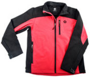 Hooey Unisex Softshell Jacket, Red/Gray