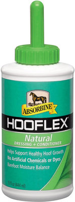 Hooflex Natural Dressing + Conditioner, 15 oz with brush