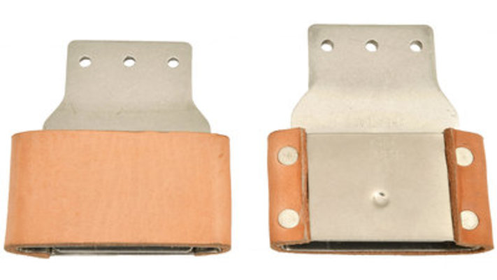 """2.5"""" Horizontal Leather-Covered Blevins Buckles (pair)"""