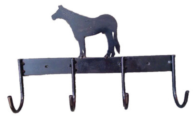 Horse Silhouette Tack Rack