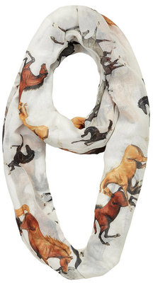 """Horses of Every Color"" Infinity Scarf"