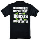 "Horses Unlimited ""Important"" T-Shirt, Black"