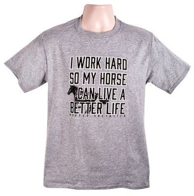 "Horses Unlimited ""Work Hard"" T-Shirt, Heather"