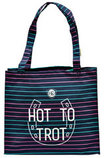 """Hot to Trot"" Canvas Bag, Charcoal"