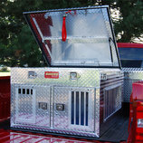Hunter Series Dog Box with Top Storage (Dual Compartment)