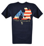 I Got Your Back T-shirt, Navy