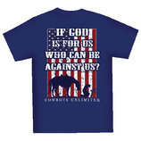 """If God is for Us, Who Can Be Against Us"" Tee, Navy"