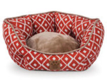 """IKat"" Round Clamshell Dog Bed, 19"""