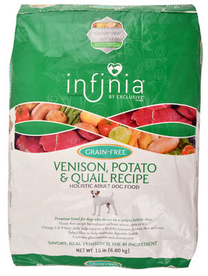 Infinia Grain Free Venison, Potato, & Quail Recipe