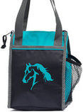 Lila Horse Insulated Lunch Bag