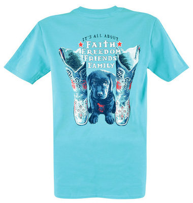 It's All About Faith Freedom Family T-Shirt, Aqua
