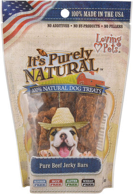 It's Purely Natural Beef Jerky Dog Treats, 4 oz