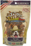 It's Purely Natural Bone-Shaped Beef Jerky Dog Treats, 4 oz